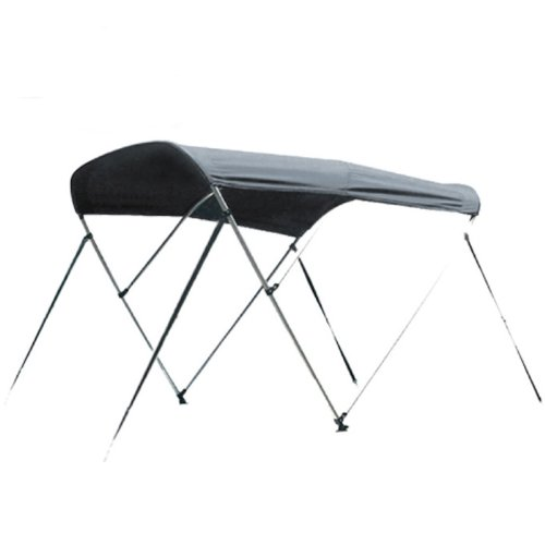 New Grey 3 Bow Bimini Boat Tops Includes Hardwares with 1 Inch Aluminum Frame (6