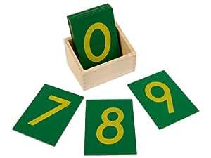Kid Advance Co. Montessori Sandpaper Numbers w/ Box