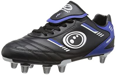 Optimum Mens RBTBBS7 Tribal Rugby Boots - Black/Blue, 7 UK, 40 EU