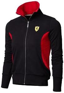 Ferrari Black Medium Ladies Zip Sweatshirt by Ferrari