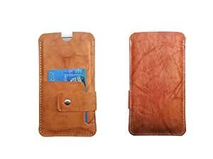 ATV Genuine Leather OCHRE Designer pouch Case Cover For Oppo A31