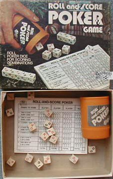 Roll and Score Poker Dice Game - 1977 - 1