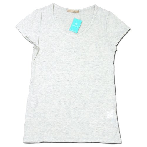 (コバノ) cobano FRENCH TEE オーガニックコットンレディースフレンチスリーブTシャツ HEATHER GREY