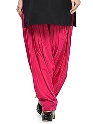 Stylenmart Women Cotton Solid Full Patiala Salwar (Stmapa078625 _Pink _Free Size)