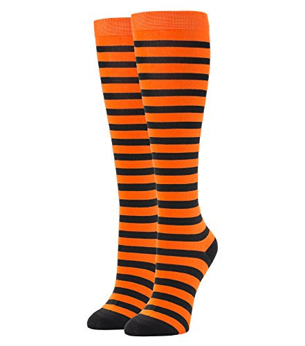 Orange and Black Striped Knee Socks