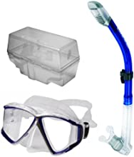 Cressi Panoramic Dive Mask and Dry Snorkel Scuba Snorkeling Set
