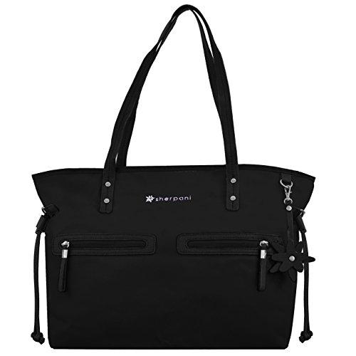 ladies-designer-black-lightweight-nylon-tote-shopper-handbag-hobo-shoulder-bag
