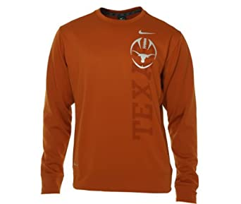 Nike Texas Longhorns Trophy Perf Crew Neck Shirt by Nike