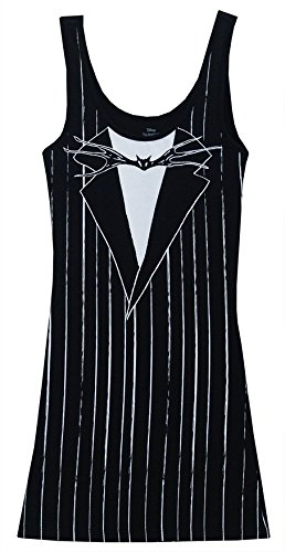 Nightmare Before Christmas I Am Jack Skellington Jrs Costume Tunic Tank Dress Black Small (Jack Skellington Cosplay compare prices)