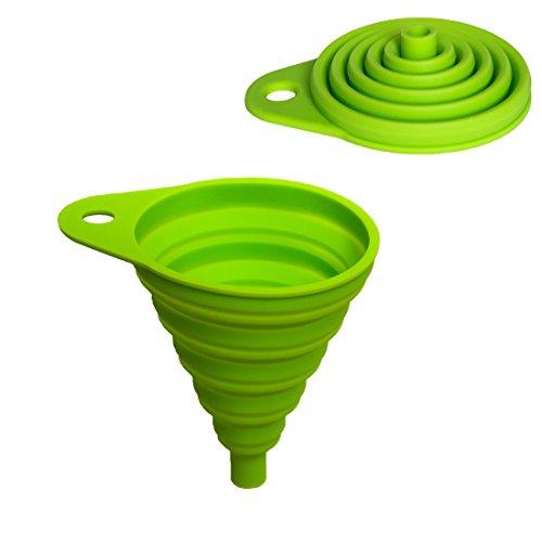 Home Optimal Entonnoir pliable en silicone. Haute Qualité, diamètre 8cm. Idéal pour la cuisine, le bricolage et le camping