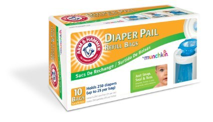 Munchkin Arm & Hammer Diaper Pail Refill Bags, 10 count - 4 Pack - 1