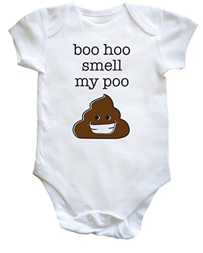 HippoWarehouse Boo hoo profumo my poo body bebè bimbi bimbe - cotone, Bianco, 100% cotone 100% cotone, Donna, 18-24Mesi