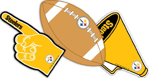 Eureka Pittsburgh Steelers NFL Officially Licensed Paper Cut Outs