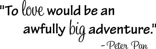 To love would be an awfully big adventure Peter Pan wall art wall sayings