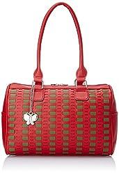 Butterflies Women's  Handbag (Red) (BNS 0563RD)