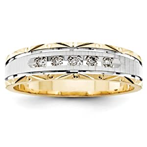 IceCarats Designer Jewelry Size 10 14K Aa Quality Trio Mens Wedding Band Ring.