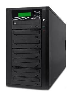 Spartan Edge 1-6 Target DVD/CD Copy Tower Duplicator with 24x SATA Writer Burners D06-SSP (Black)