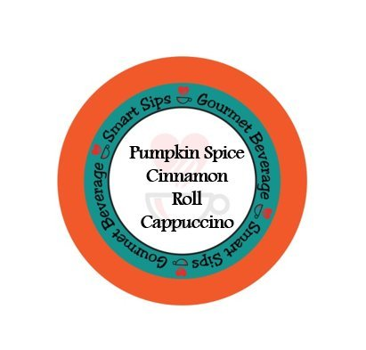Smart Sips, Pumpkin Spice Cinnamon Roll Cappuccino, 24 Count, Compatible With All Keurig K-cup Brewers (Sugar Free Cocoa Keurig compare prices)