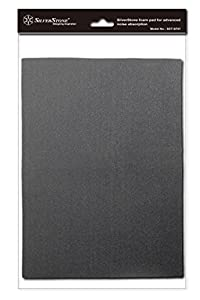 SilverStone 21-Inch x 15-Inch 4mm Thick 2-Piece Sound Dampening Acoustic EP0M Silent Foam SF01 (Black)