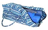 Stripey Blue Large Yoga Equipment Kit Bag