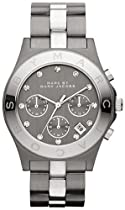 Marc Jacobs Blade Chronograph Gunmetal and Silver-Tone Ladies Watch MBM3179
