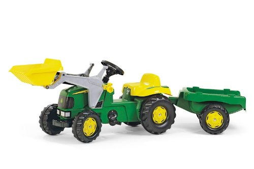 John Deere Rolly Kids Pedal Tractor With Trailer  &  Front Loader