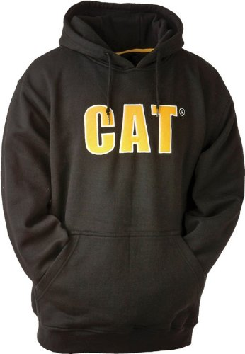 Cat Thermal Lined Hooded Sweatshirt / Mens Sweatshirts / Sweatshirts (Large) (Black)
