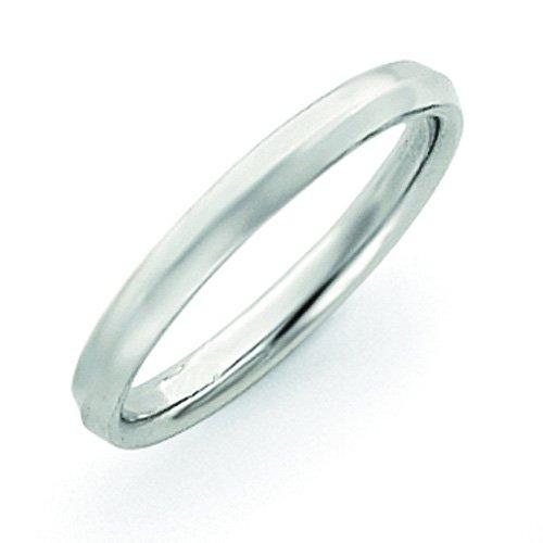 14K White Gold 3Mm Knife Edge Wedding Band