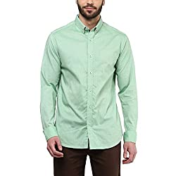 F Factor by Pantaloons Men's Shirt 205000005567677_Mint Green_44