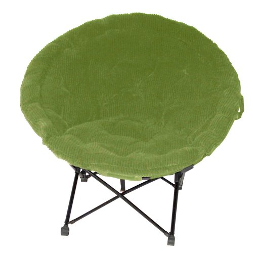 Corduroy Sphere Chair Green Furniture bedding