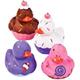 12 Sweet Treat Cupcake Ice Cream Rubber Ducks