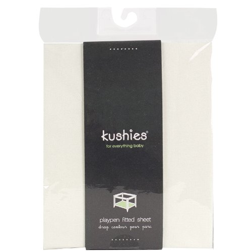 Kushies Percale Fitted Play Pen Sheet, Ecru