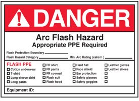 Arc flash labels danger arc flash hazard amazoncom for How to read arc flash labels