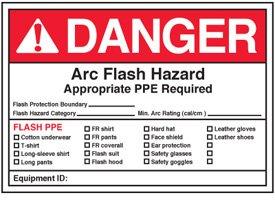 Arc flash labels danger arc flash hazard amazoncom for How to read arc flash labels