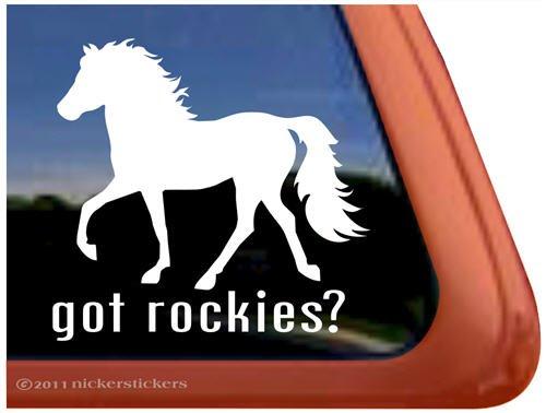 Got Rockies? Rocky Mountain Horse Trailer Vinyl Window Decal Sticker front-68386