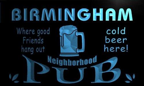 Pg2147-B Birmingham Neighborhood Home Bar Pub Beer Neon Light Sign
