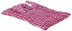 FirstVibe Velvet Baby Mattress for new Born Baby/Kids(Pink)