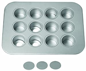 Chicago Metallic Commercial Mini Cheesecake Pan, 12 Cup, 36 x 7.5 x 5 cm)
