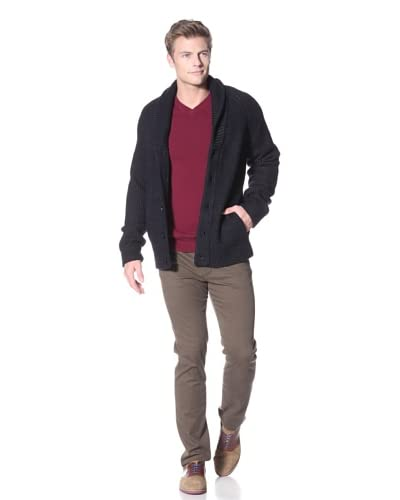 Vince Men's Plaited Shawl Cardigan