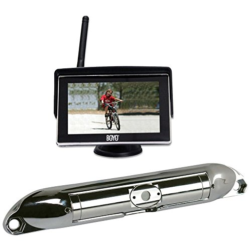"Boyo VTC404R Wi-Fi High Resolution Rear View Camera System with 4.3"" LCD Monitor (Chrome)"
