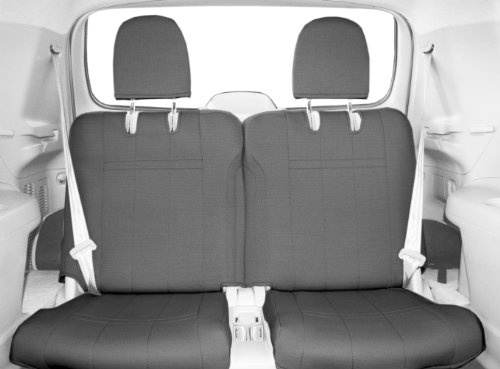 CalTrend Rear Row 50/50 Split Bench Custom Fit Seat Cover for Select Toyota Highlander Models - SportsTex (Light Grey)