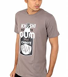 Younsters Choice Men's Cotton T-Shirt (YC-5833_Grey_X-Large)