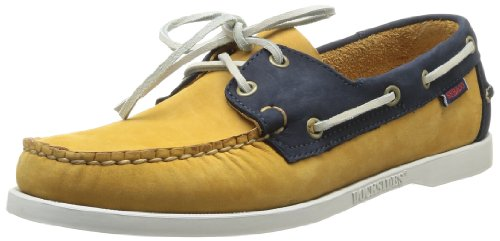 Sebago Mens Spinnaker Boat Shoes B720052 Golden Tan/Navy 11 UK, 46 EU, 11.5 US, Wide