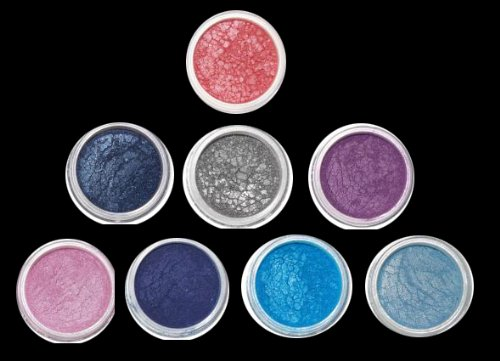"Micabella Mineral Makeup 8 Stacks ""A-Viva-blue"" Best Eye Shadows for Blue Eyes"