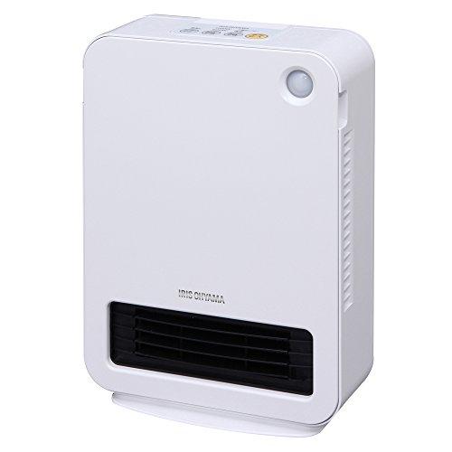 アイリスオーヤマ セラミックファンヒーター 人感センサー ホワイト JCH-12D2-W -