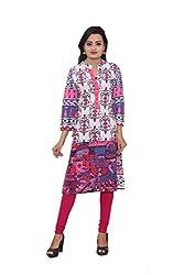 KIMYRAA Women's Cotton Kurta (KLK-1016-FUCHSIA-XXL)