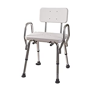 dmi heavy duty bath and shower chair with arms adjustable
