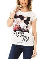 Les Gamines de Paris Camiseta Manga Corta Ingrid (Blanco / Negro)