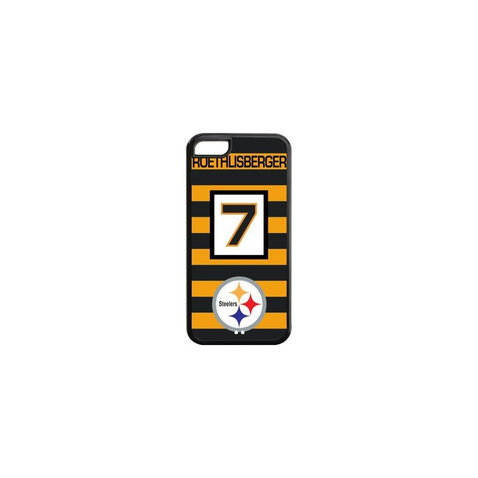 Fashionable NFL Pittsburgh Steelers Quarterback Ben Roethlisberger Jerseys No.7 Design Printed Durable PC and SILICONE IPHONE 5C Case Cell Phones & Accessories