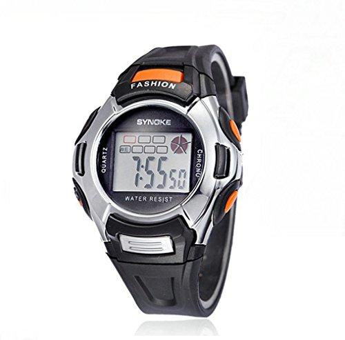 Kano Bak Fashion Child Kids Boy Girl Student Digital Crystal Alarm Sports Waterproof Waterproof Gift Watch Black 99329